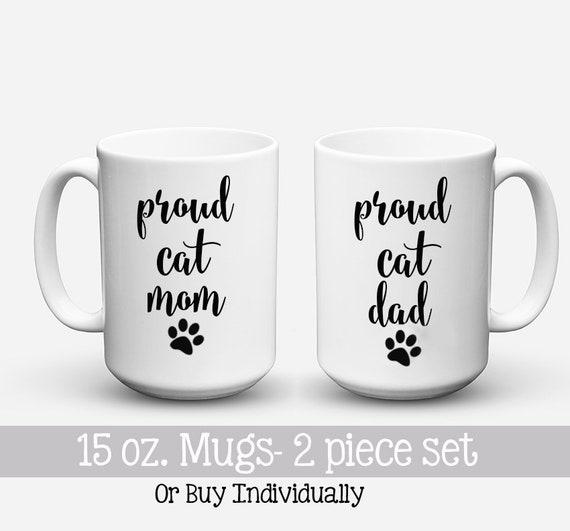 MugsCat Dad GiftPet And Couple SetProud Mom Couples Hers Coffee Dog MomHis Mug Gift Funny Parents xBCedro