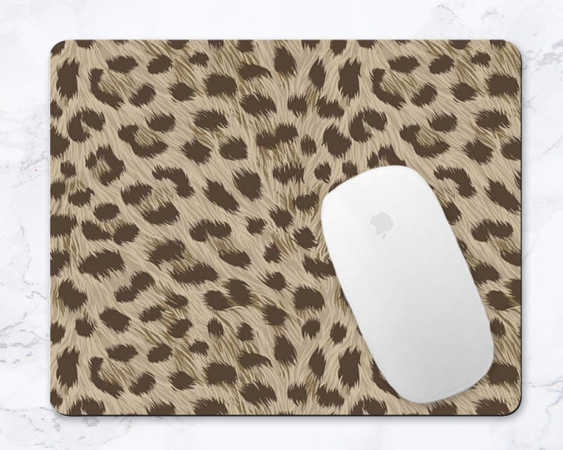Leopard Mouse Pad Leopard Print Mousepad For Office Desk Decor Leopard Mouse Mat Leopard Office Accessories For Women Animal Print Decor