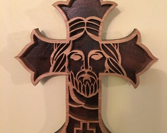 Cross with face of Jesus