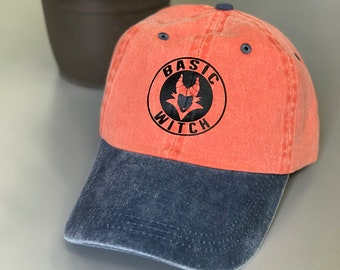 Basic Witch Maleficent Hat. Halloween Hat. Witch Hat. Pigment Dyed Cotton  Twill Cap. One Size Fits All. Cool Adjustable Buckle. 0ccb33f8d566