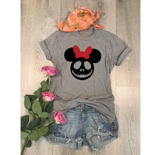 Minnie Mouse Skull  Unisex Fit   Disney Inspired Shirt   2f632dd1b4b0