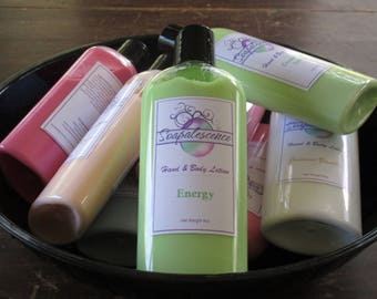 Energy Shea Butter Hand and Body Lotion 8oz