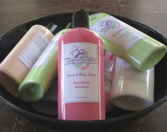 Strawberry Rhubarb Shea Butter Hand and Body Lotion 8oz