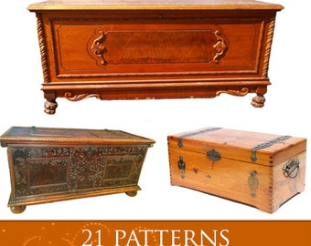 How To Make CEDAR CHESTS 21 Different Designs + Working Drawing Patterns 92 Pages Printable or Read on Your iPad or Tablet Instant Download