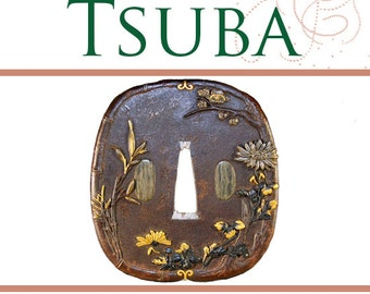 Illustrated Guide On TSUBA Japanese Sword Guards RARE Reference Book Schools Artists 181 Pages Read on Your iPad or Tablet Instant Download
