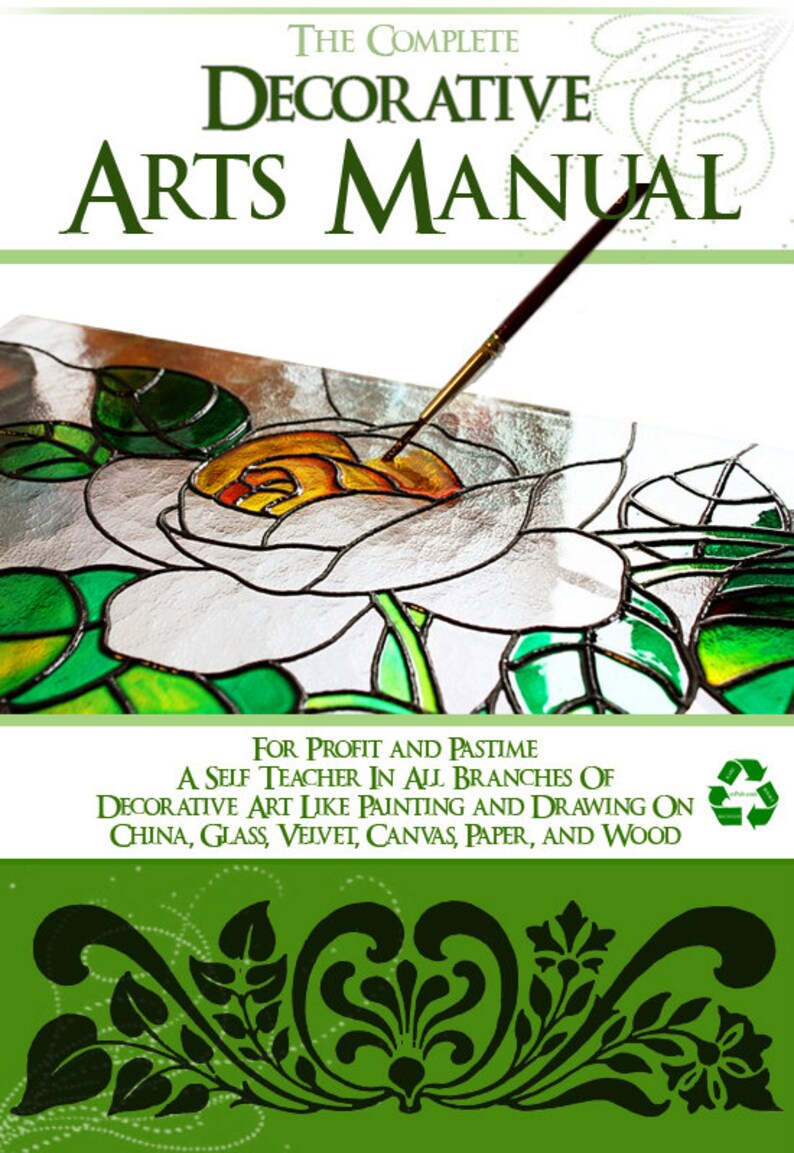 The Complete DECORATIVE ARTS MANUAL Teach Yourself 296 Pages Printable or  Read on Your iPad or Tablet Instant Download