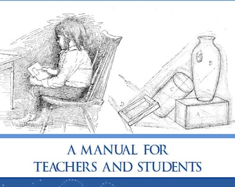 FREE-HAND DRAWING A Manual For Teachers and Students 162 Pages Illustrated Printable or Read on Your iPad or Tablet Instant Download