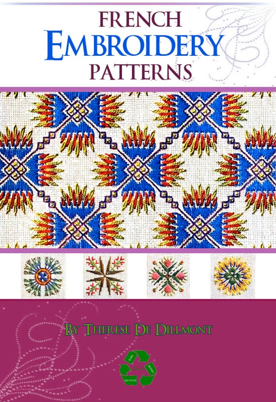 38 Pages Of French Embroidery Patterns Rare German Book Etsy