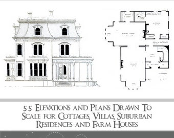 VICTORIAN ARCHITECTURAL PLANS 55 Elevations and Plans for Cottages Villas Residences