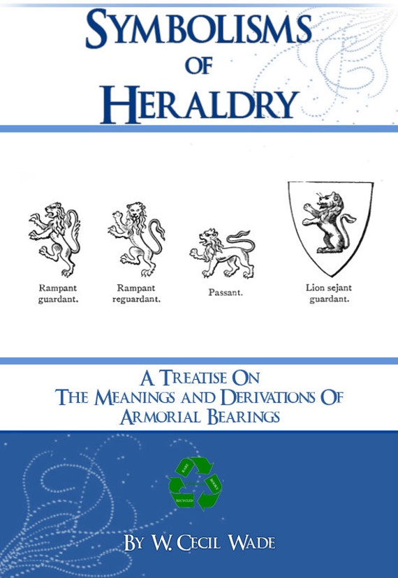 Symbolisms Of Heraldry Rare Reference Book For Collectors 165 Etsy