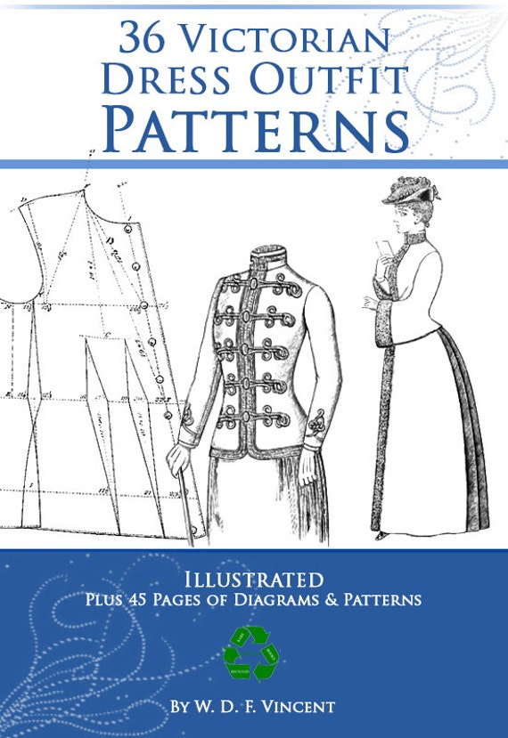 36 Victorian DRESS Outfit SEWING PATTERNS Vests Jackets | Etsy