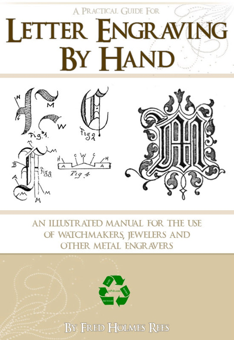 LETTER ENGRAVING By HAND Practical Instructions For Jewelers image 0