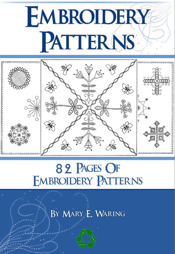 82 Pages Of Embroidery Patterns Rare Printable Book Or Read On Etsy