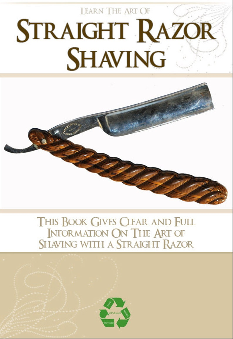 Learn The Art of Straight Razor Shaving with Open Cut Throat Razors 76  Pages Printable or Read on Your iPad or Tablet Instant Download