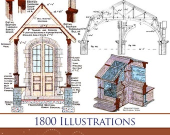 CARPENTRY and JOINERY Rare Practical Guide over 1800 ILLUSTRATIONS 584 pgs All You Need To Know Read on Your iPad or Tablet Instant Download