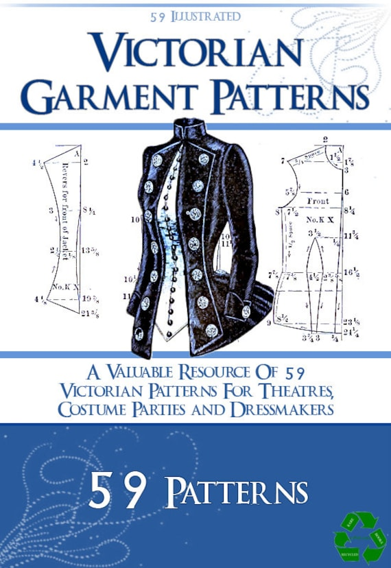 59 Victorian DRESS SEWING PATTERNS Design Your Own Theatre | Etsy
