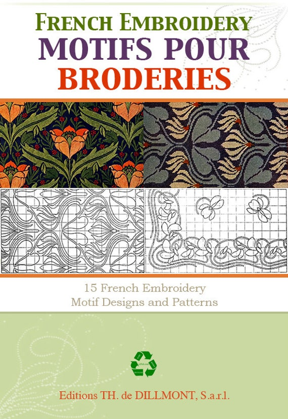 French Edition Full Color Hand Embroidery Motif Designs And Etsy