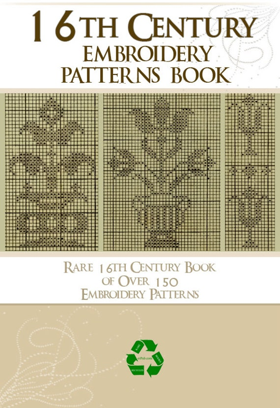 Rare 16th Century 150 Embroidery Patterns Book 46 Pages Etsy