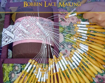 How To MAKE LACE Bobbin Lace Making 97 Pages Instructions Plus 12 Printable PATTERNS - Instant Download - See Reviews