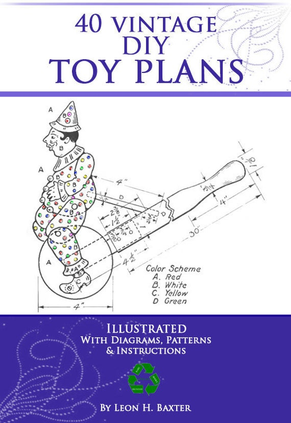 40 Vintage Do It Yourself Easy Toy Plans With Patterns And Etsy