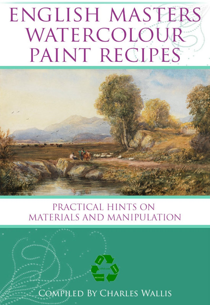Old English Masters Watercolour Paint Recipes Manual Rare Old Paint Mixing  with Over 300 Formulas Book Printable Instant Download