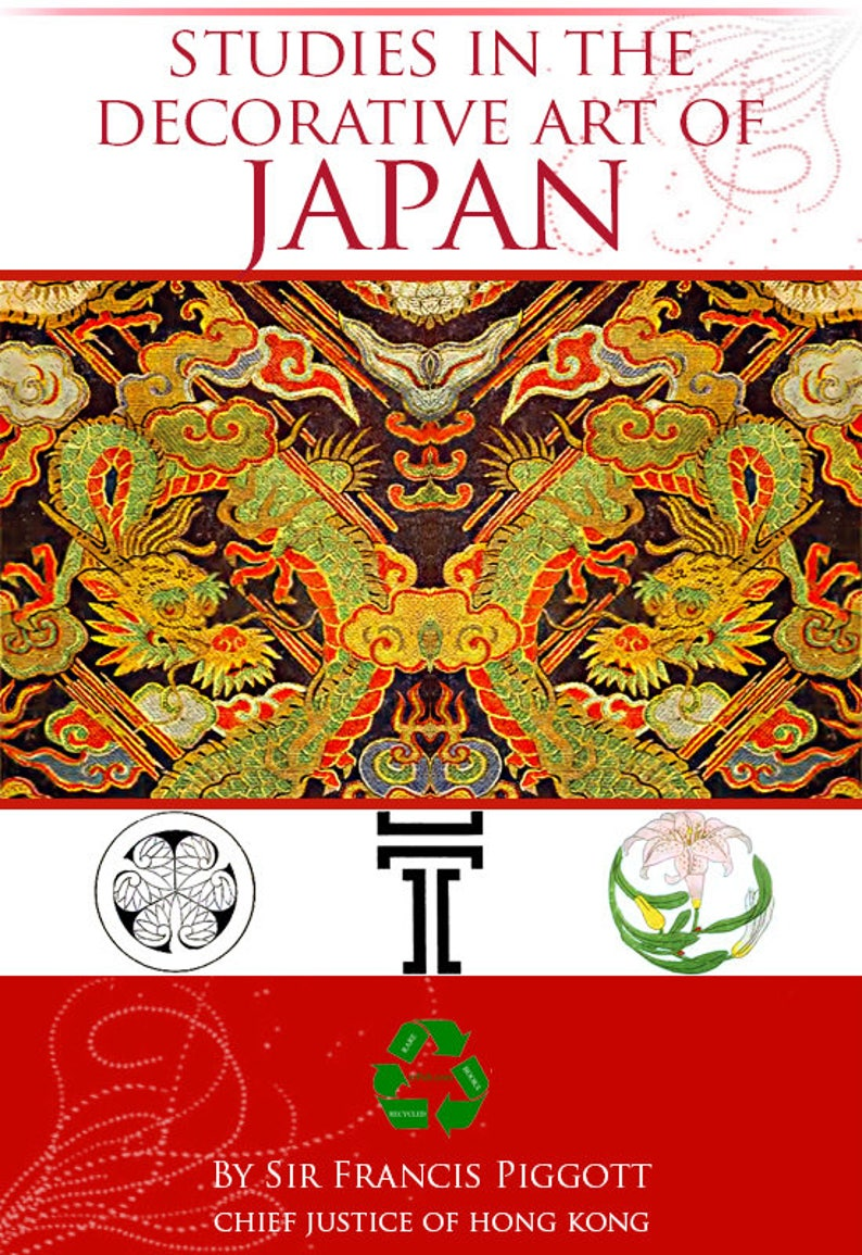 Studies In The Decorative Art Of Japan Rare Illustrated Reference Book 122 Pages Printable Or Read On Your Ipad Or Tablet Instant Download