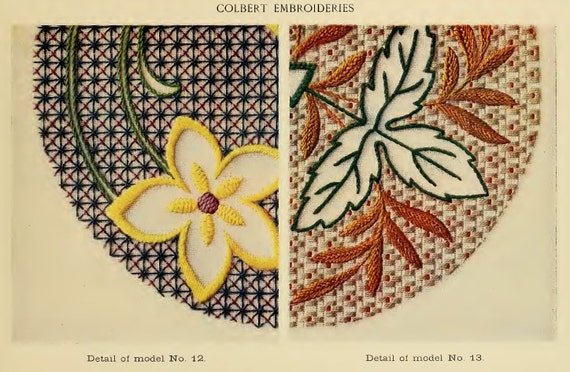 21 France Hand Embroidery Patterns Rare Illustrated Book 42 Etsy