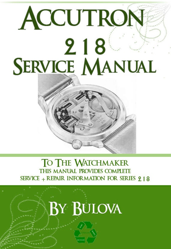 bulova accutron 218 movement service manual 51 pages step by etsy rh etsy com Vintage Bulova Accutron Accutron Spaceview