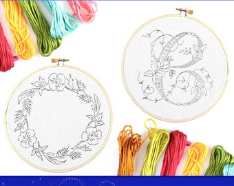 Rare 500 HAND EMBROIDERY PATTERN Designs Book Easy Embroiderers Flower Pattern Designs Printable For All Crafting Projects Instant Download