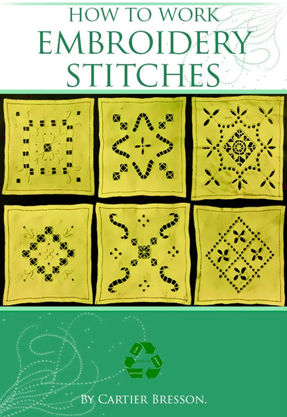 How To Work Embroidery Stitches Tutorial With Designs 47 Pages Etsy
