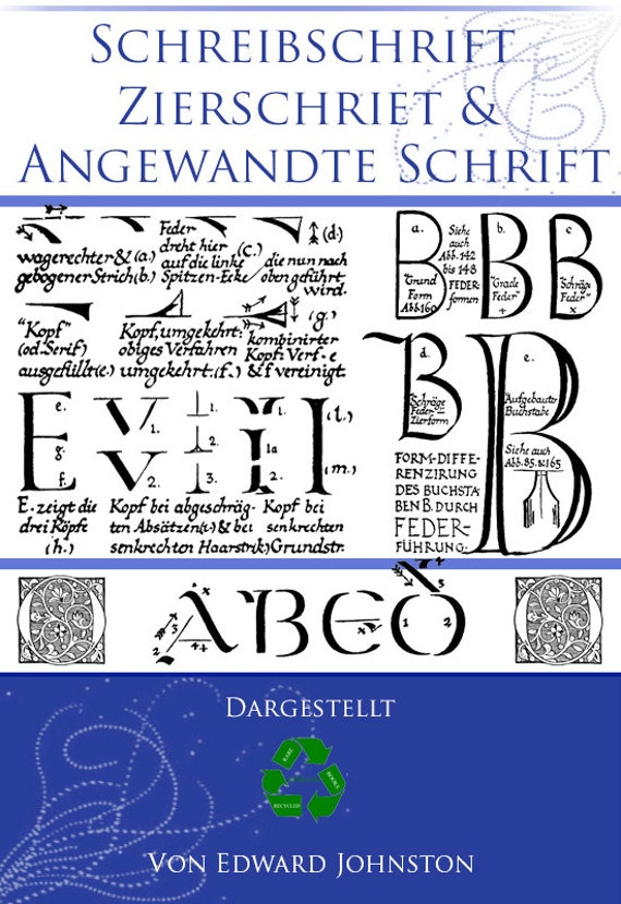 Scheibschrift Zierschriet Angewandte Schrift German Book On Lettering Handwriting Alphabets Calligraphy 516pg Printable Instant Download