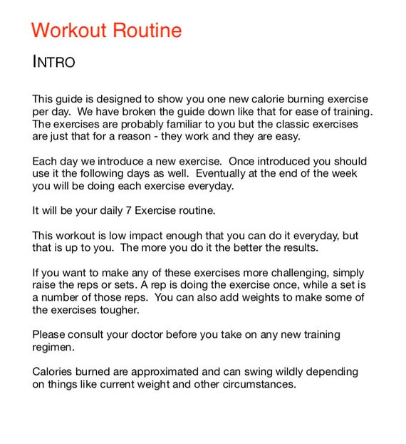 exercise to reduce weight in 7 days