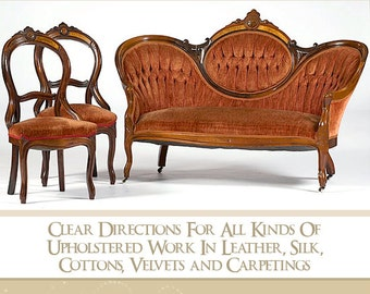 Learn How To Upholster Victorian Furniture Rare illustrated Book Teaches All About It Read on Your iPad or Tablet Instant Download