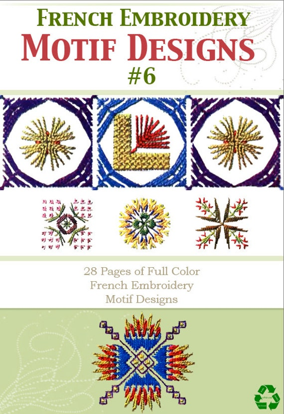 28 Pages Of French Full Color Hand Embroidery Motif Patterns Etsy