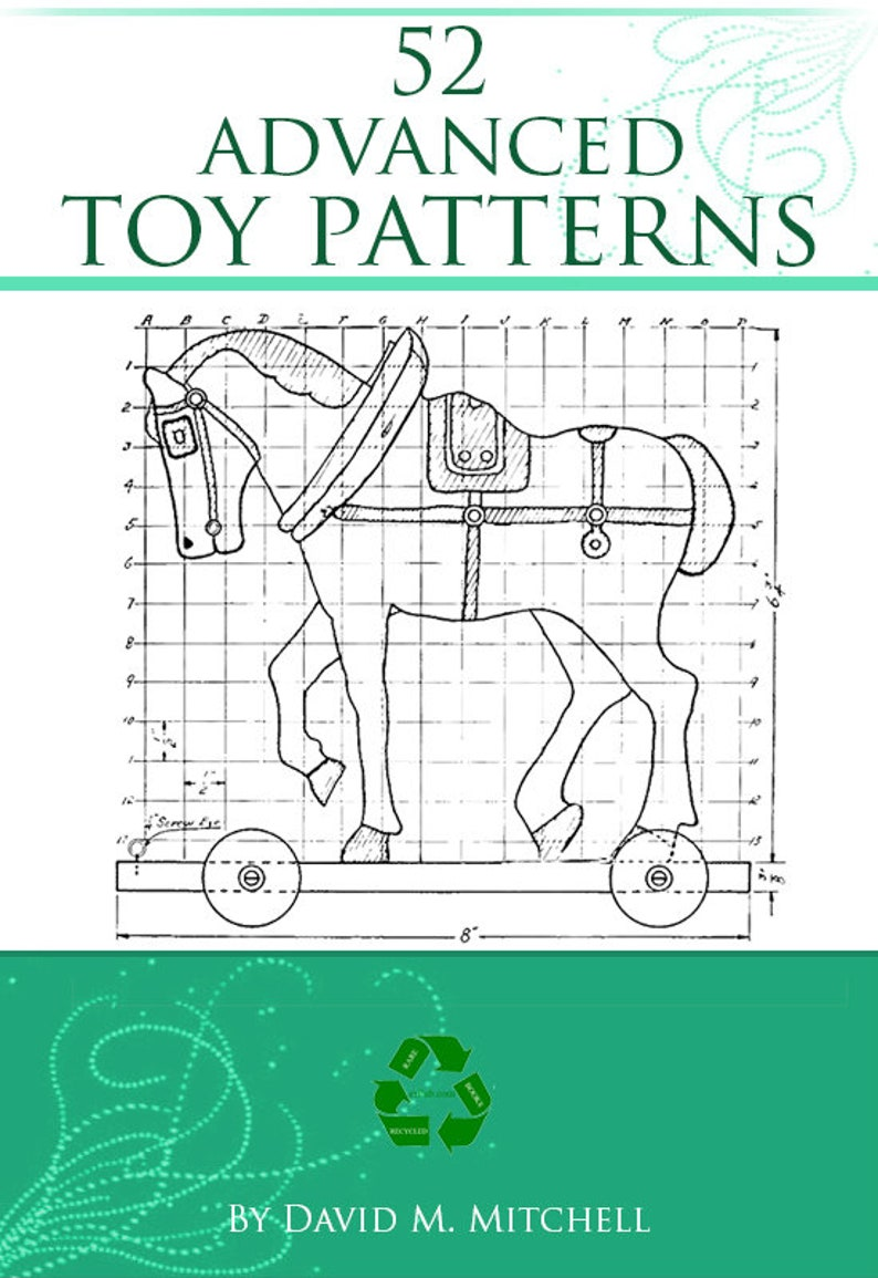 52 advanced toy patterns ~ how to make wooden educational toys at home ~  plans with instructions ~ 119 pages printable ~ instant download