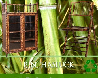 How To Make BAMBOO FURNITURE Rare illustrated Book 157 Pages Teaching Everything You Need To Know