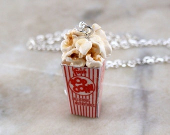 Miniature Popcorn Polymer Clay Necklace