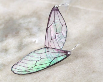 Petite Fairy Wing Resin Earrings