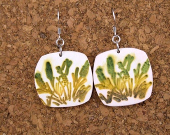 Earth Patterned Polymer Clay Earrings