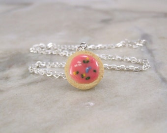 Miniature Sugar Cookie Polymer Clay Necklace