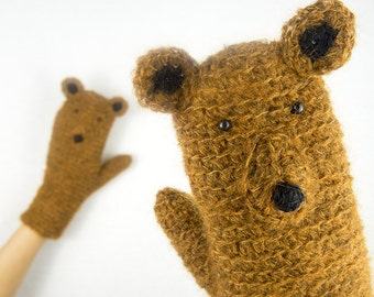 Bear Mittens / Gloves ~ Handmade ~ Free Shipping Worldwide