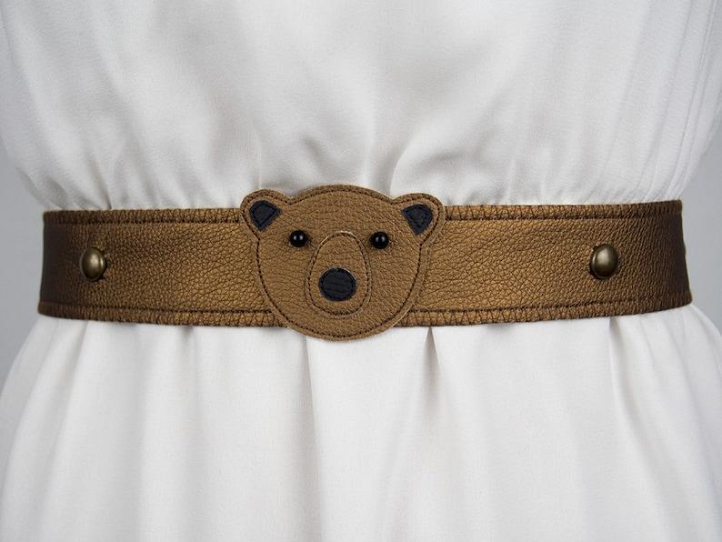 Bear Belt Metallic  Handmade  Free Shipping Worldwide image 0