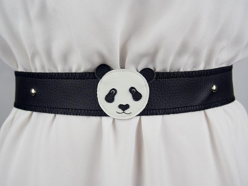 Panda Belt  Handmade  Free Shipping Worldwide image 0