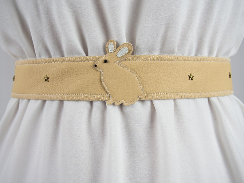 Rabbit / Bunny Belt  Handmade  Free Shipping Worldwide image 0