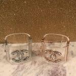 Acrylic Crystal Shield Rhinestone Bracelet Cuff