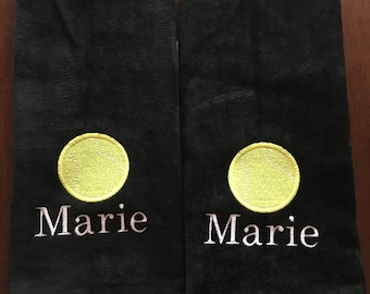 Custom Personalized Embroidered Tennis Towels, , Personalized Tennis Towels, Custom Embroidery, Tennis Gift, Custom Personalized,