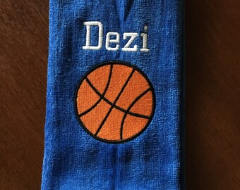 Personalized basketball towel, monogrammed great seller, basketball team towels, basketball gift, 16 x 26, terry velour