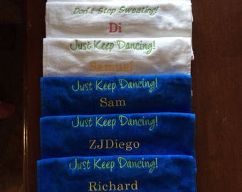 Embroidered Towel with custom personalization by Linda Kay's Creations