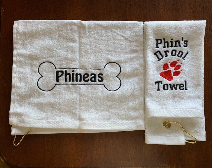 Personalized Dog bath towel, or drool towel, Personalized dog towel, cat towel, doggy gift, drool towel, 30 x 60
