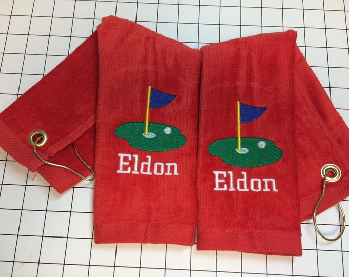 Golf, golf towel, personalized Golf towel, golf towel, golf gift, monogram towel, embroidered towel, fast turn around,